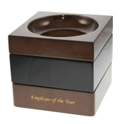Executive Stackable Wooden Clip and Pin Tray in Piano Finish