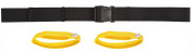 Secure Transfer Gait Belt with Easy Release Buckle and Detachable Hand Loops and, Black, 150cm Length