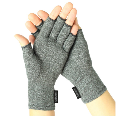 Arthritis Gloves by Vive - Compression Gloves Provide Relief from Arthritis in Hands - Aids Finger Joint Pain - Ideal Hand Gloves for Arthritis - One Pair sz medium
