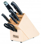 Viking Culinary 40083-9907 7 Piece Professional Cutlery Set, Black