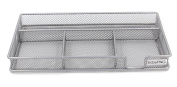 EasyPAG Mesh Collection Desk Drawer Accessories Organiser ,11.5 x 16cm x 3.2cm Silver