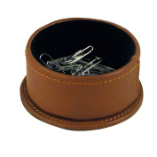 Buddy Products Milano Collection Leather Paper Clip Holder, Brown, 9246-27