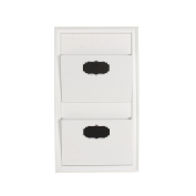 DesignOvation Walcott Decorative Wall Organiser Mail Holder with Two Pockets, White