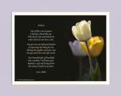 Personalised Friend Gift. White Tulip Photo with This Beautiful Friendship Poem