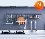 Stainless steel kitchen pendant wall-mounted turret Drain shelf storage rack seasoning seasoning rack wall dishes