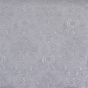 "EMBOSSED DAMASK SILVER 3-PLY 20 PAPER NAPKINS SERVIETTES 13""X13""-33X33CM"