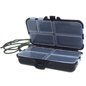 Fishing Tackle Box Storage Case for Hooks Lures Baits 9 Compartments