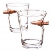 .308 Bullet Shot Glass- Set of 2
