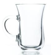 Original Turkish Tea Glasses with Handles, 120ml - Set of 6, Small