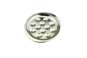 Stainless Steel Snail Mushroom Escargot Plate Dishes 12 Compartment Holes Pack of 2