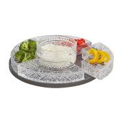 Elegant Crystal Lazy Susan, Beautiful Revolving Appetiser Display, Serving, Chip and Dip Set, Party