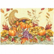 Fall Bounty Paper Placemats 50 Per Pack