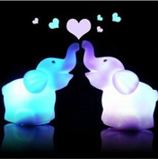 edealing(TM) Pack Of 2 Creative Cute Elephant Led Night Light Colour Changed Romantic Gift For Home Wedding Decor