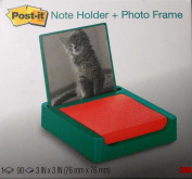 Post-it 7.6cm x 7.6cm Note Holder with Photo Frame, Emerald Green