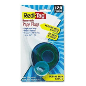 Redi-Tag Preprinted Signature Flags In Dispenser, PLEASE SIGN & DATE, Yellow