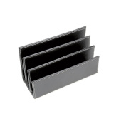Black Leather Finish Document and Letter Holder