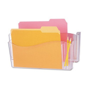 Unbreakable 4-in-1 Wall File, Two Pockets, Plastic, Clear