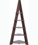 Azumaya Shelf Display Corner Rack Brown NWS-560BR KD Furniture