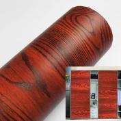 yazi Self Adhesive Wood Grain Door Sticker Thicken PVC Shelf Drawer Liner 60cm x 100cm Thanksgiving Day Gift
