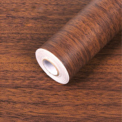 SimpleLife4U Minimalist Brown Wood Grain Contact Paper Self Adhesive Shelf Liner Nightstand Door Sticker 45cm by 3m