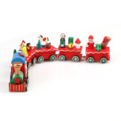 Leegor Christmas Gift 6 Pieces/set Lovely Wood Xmas Train Birthday Gifts For Children Indoor Ornaments