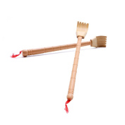 Delight eShop Bamboo Telescopic Back Scratcher Extendable Wooden Back Itching Self Massager