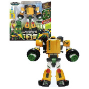Young Toys Tobot Adventure Terracle Transforming Toy Transformer Robot Tank Tractor Figure set & Free GIft (Key Ring) and CD Video Clip