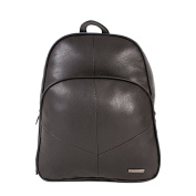 Small Ladies Lorenz Leather Grain PU Zip Round Backpack Capacity Approx 8 litres - Various Colours
