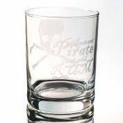 Designer Rocks Glass - Instant Pirate Just Add Rum