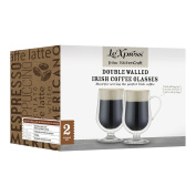 KitchenCraft Le'Xpress Insulated Double-Walled Irish Coffee Glasses, Set of 2