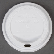 Dart Solo TLP316-0007 Traveller White Dome Hot Cup Lid with Sip Hole 100/Pack