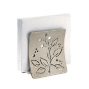 mDesign Leaf Design Napkin Holder for Kitchen Countertops, Table - Satin