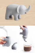Sugar Dispenser Ele Sugar Elephant Sugar Pourer by Qualy Design Studio. Grey Colour. Designer and Practical Kitchen or Dining Table Accessory. Great Home Decor Present. Cool Housewarming Present Gift.