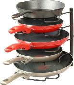 SimpleHouseware 4 Compartments Pan Organiser Rack, Bronze