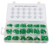 GoldenTrading 270Pcs 18 Sizes O-ring Kit Green Imperial O ring Seals Nitrile Rubber