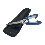 Stainless Fishing Pliers Scissors Line Cutter Hook Remove Tackle Tool + Bag