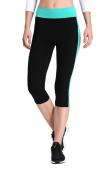 Neonysweets Womens Yoga Capri Tights Exercise Running Fitness Pants Leggings