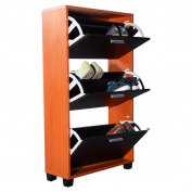 MasterPanel - Wooden Shoe Organiser 3 Drawers Cabinet Storage Rack Shelf #TP3310