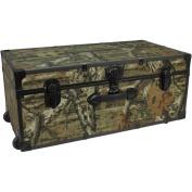 Mercury Luggage Seward Trunk Wheeled Storage Footlocker, 80cm Mossy Oak