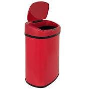 49.2l Touch Free Sensor Automatic Touchless Trash Can Red