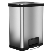 49.2l AirStep Trash Can Stainless Steel, 41cm Opening
