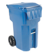 Otto Mobile Heavy Duty Trash Container, 359.6l, Blue