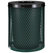 Thermoplastic Coated Mesh Receptacle w/Flat Lid, 121.1l, Green