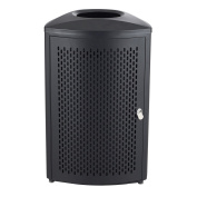 Safco Products Nook Indoor Waste Receptacle, 75.7l, Black