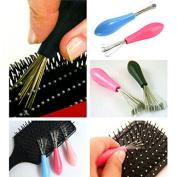Durable Mini Comb Hair Brush Cleaner Embeded Tool Salon Home Essential Item // Mini limpiador de cepillo de pelo peine salón herramienta Embebido duradera hogar elemento esencial