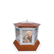 Perfect Memorials Rotating Memories Small Cremation Urn Up to 6 Pictures