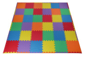 Toydaloo EVA Foam Play Mat Blank 36 pieces + 24 borders Non-toxic multicoloured Colourful