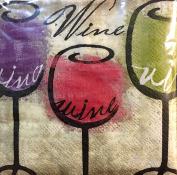 Set of 30 Cocktail Beverage 2-ply Paper Napkins ~ Wine Wine Wine