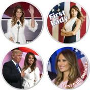 Set 4 Melania Trump First Lady 5.7cm Bottle Openers w/ Keyring