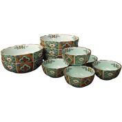 KamaKama Japanese Bowl set(Bowl A x5pcs/Bowl B x5pcs) Porcelain/Size(cm) 15.2x5 , Diameter 9.5x4.4/ka048000